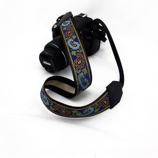 Camera strap can print personalized custom leather stitching national wind embroidery pattern 008