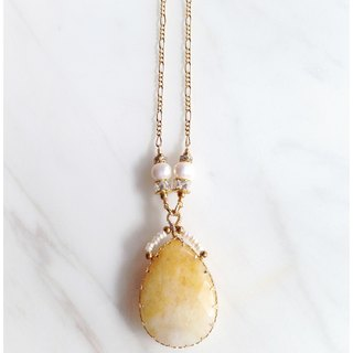 Minertés=Elegant Topaz, Pearl, Zircon, and Gold Plated Necklaces