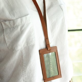 labrador leather sling + document sets