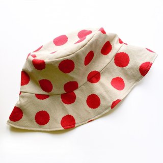 Nordic series polka dot cotton fisherman hat handmade hat