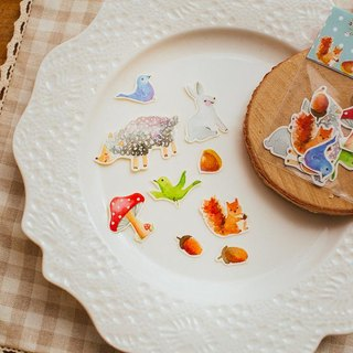 * Zoe's forest * Forest Critter stickers part 1 (rabbit sheep squirrel acorns chestnuts....)