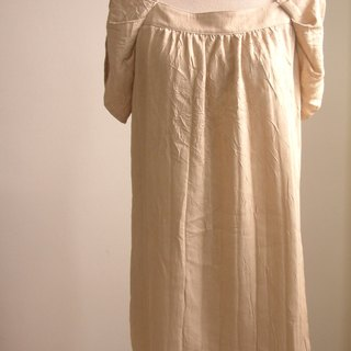 Plain elegant dress (Champagne)
