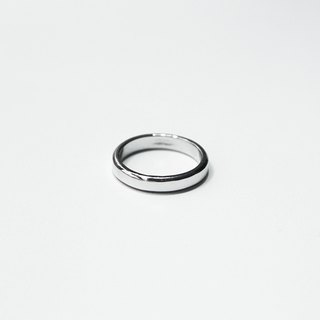 Simple Series - Sterling Silver Round Ring / Silver
