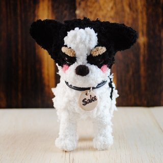 12cm pet cloned [feiwa Fei handmade doll] longhaired Chihuahua pet keychain pet doll (Welcome to order your dog)