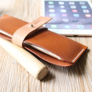 [Butterfly hand made leather goods] side open mobile phone case