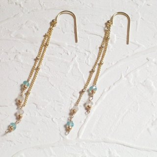 Swaying natural apatite elegant moonstone earrings