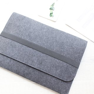 "Original handmade dark gray blankets Apple Tablet PC case sets of blankets Macbook 12 inch laptop bag computer bag Macbook 12 ""(can be tailored) - ZMY045DG12A"