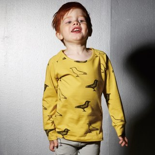 [Nordic children's clothing] Iceland organic cotton long-sleeved shirt yellow
