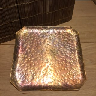 Metalworking calcined copper gold of square coasters
