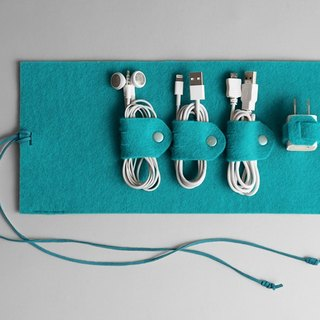 Wire storage package blue