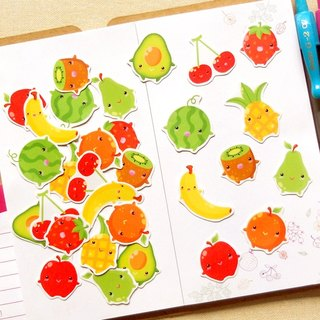 水果貼紙 (30入) - 手帳貼紙系列 - 食物貼紙 - Fruit Stickers