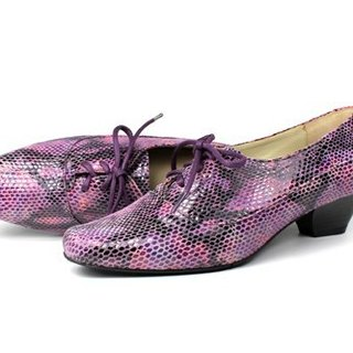 Purple elegant square shoes