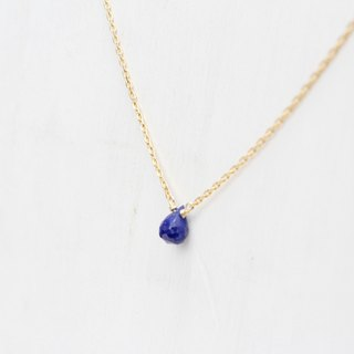 SEPTEMBER 9-birthstone-Lapis lazuli Clavicle necklace Brass with 22K Gold plated