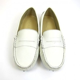 Fort Tony Wang handmade leather shoes (female) [sheep / bean bottom / off-white]