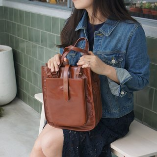 catXbow-knot} portable hand-stitched leather shoulder bag _ _ _ Limited Taiwan design manual _ brown _pinkoi Price