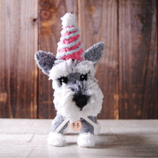 Pet avatar 14 ~ 15cm [feiwa Fei baby hand] Schnauzer pet doll (welcome to build your dog)