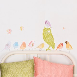 Birds singing - girl < love mae Australia nontoxic patent wall stickers Small >