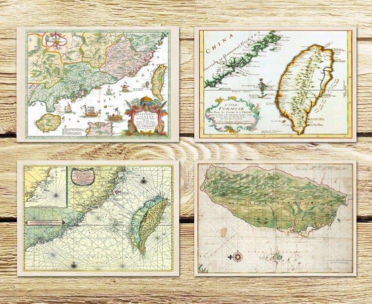 台灣老地圖D 明信片