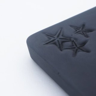 KALKI'D cement ‧ magical affinity absorbent coaster (black) - [starfish]