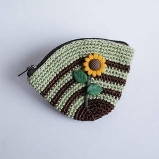 Hand-Knitted Purse--Hill Sunflower