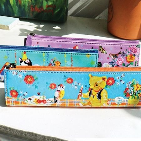 Clearance Sale - Fantasy World Leather Pencil Case - Picnic Teddy, 7321-05970