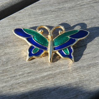Gold-rimmed glass butterfly brooch PdB Picks New York Antiques