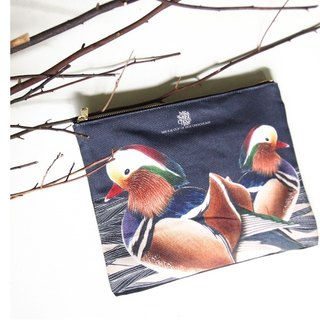 [Me & amp; a Cup of Hot Chocolate] The Mandarin Duck / Sweet duck custom Clutch