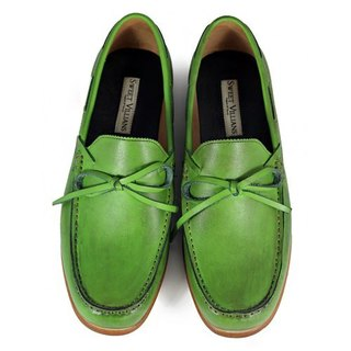 Toadflax M1122 Paintbrush Green leather loafers