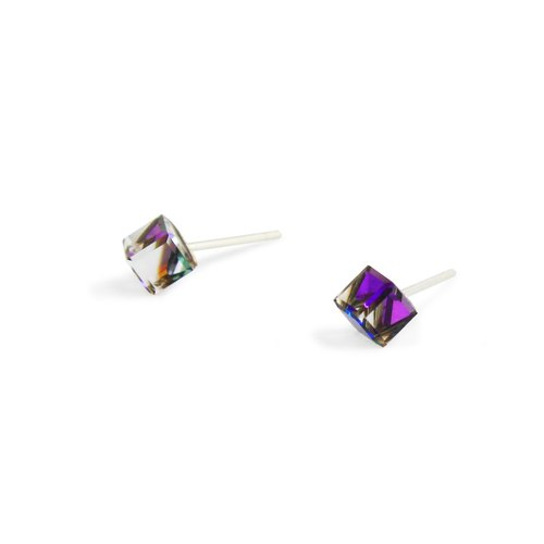 "Bibi's eye "" crystal "" Series - transparent purple small box Crystal ear acupuncture (mail free transport)"
