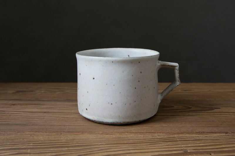 Fortunately Daoxin yue Qing Gang burned glazed pottery mug (white)