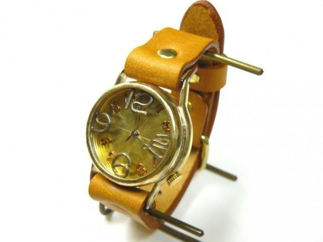 """手工手錶HandCraftWatch"""" On Time-B"""" GD / CA男士黃銅214B"""
