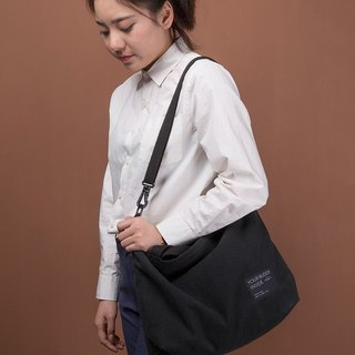 ntmy. black canvas shoulder bag Messenger bag