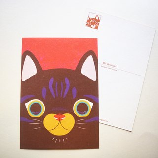 "Postcard printed version: cat - ""! Meow I called POKI"""