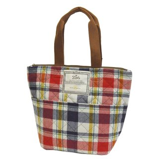 [DESTINO STYLE] Japan 256 lattice warm picnic Tote (small)