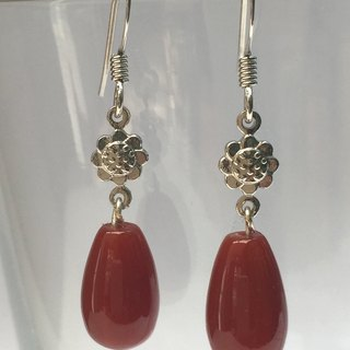 E0288 - own design and manufacture - fashion generous gift of choice - natural stones - red agate earrings