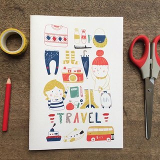 Travel A5 hand-sewn notebook