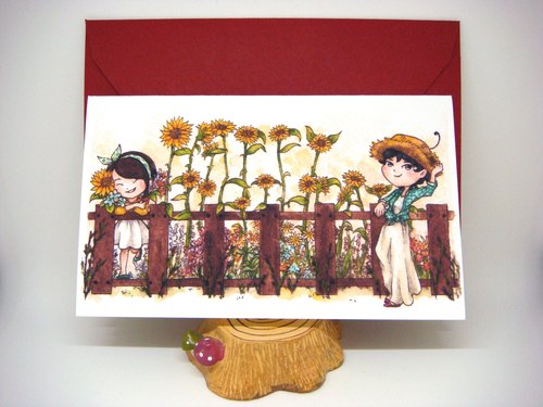 【Pin】Vegetal Greeting│Print│Birthday card with envelope at your choice