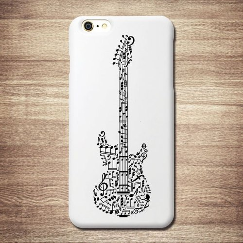 iPhone 6 / 6S [customizable color rock - electric guitar] white shell, 3D three-dimensional relief in Taiwan + Japanese Patent money card phone shell, affectionate love boutique design