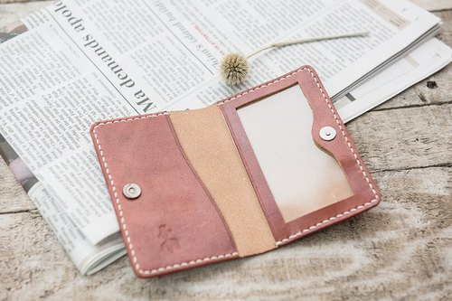 Natural Vegetable Tanned Custom Thin Leather Business Card Holder / Free Color Selection / Handmade