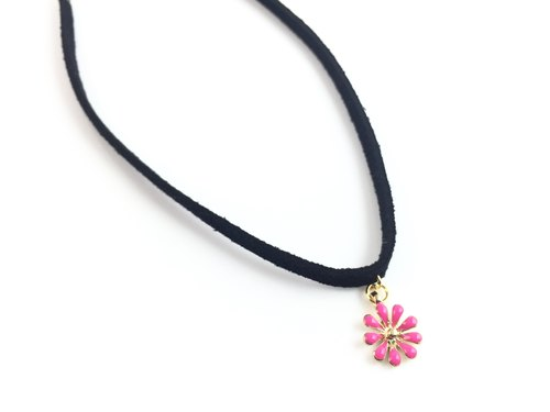 """Peach flower necklace"""