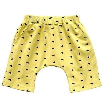 Yellow triangle shorts