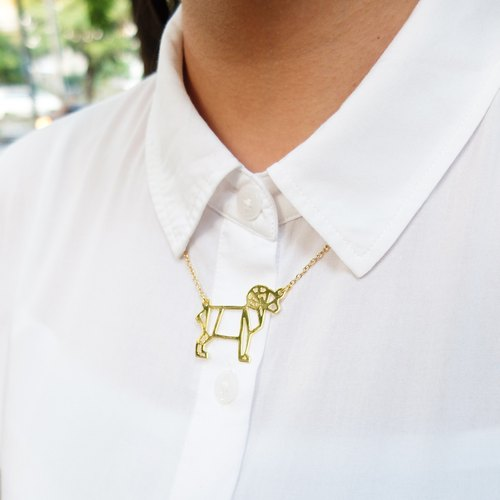 Glorikami Goat Origami Necklace