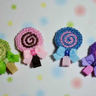 Knitting lollipop hairpin