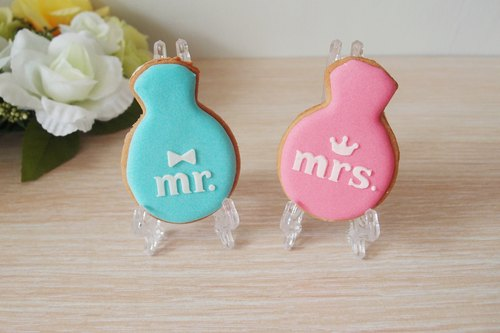 [Series] small things pink wedding ring handmade sugar cookie (10 in)