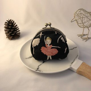 Ballet girl mouth golden purse