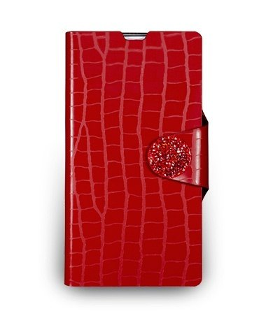 Sony Xperia Z1 standing crocodile embossed leather - bright red color