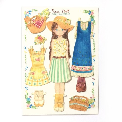 Paper doll / picnic girl