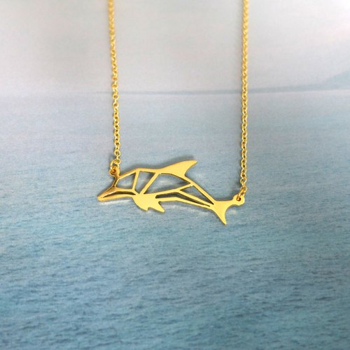 Dolphin, Origami, Animal Necklace, Dolphin Gifts, Gift for her, Birthday gifts