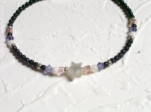 Lovely blue sand star bracelet