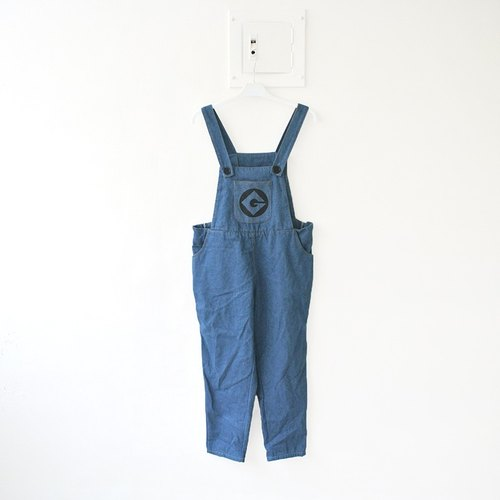 │Slowly│G vintage denim bib │vintage. Retro. England. Art. Japanese girl. Boy wind